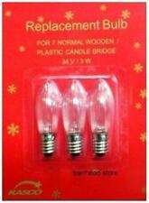 CHRISTMAS CANDLE ARCH BRIDGE LIGHT REPLACEMENT SPARE BULBS 34V 3W E10 SCREW