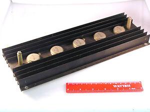 ADY26 Germanium PNP Transistors TO36 5 Pieces Assembled on Heatsink OM0144A