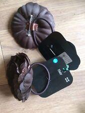 Ladies Hair Accessories Brown Flower Corsage Hair Elastic Bobble PonyTail  x2