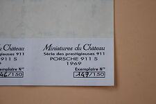 XH 1 ex étiquette numeroté Miniatures Château Porsche 911 S 1969 Heco
