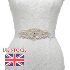 Wedding Dress Rhinestones Sash Belt Accessory Bridal Jeweled Pearl Sash Belt