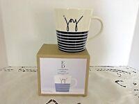 """ELLEN DEGENERES """"Joy"""" Royal Doulton London 16.5oz. Mug Cup - Stripe Base"""