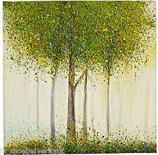 """Bild heinehome ca. 100 x 100 cm handgemalt mit Ölfarben """"Green Tree""""   011833"""