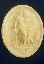Bassorilievo in gesso decoro interni 80 x 65 donna ovale rilievo gesso afrodite