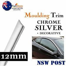 12mm x 5M Silver Chrome Moulding Trim Strip Auto Window Grille Bumper Decoration