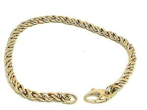 14K Rose Gold Rope Style Women's Bracelet 7.5'' inches Long Estate Jewelry 3.8g