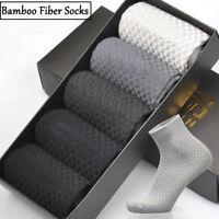 1Pair Mens Fashion Casual Dress Business Bamboo Fiber Stockings Socks Breathable