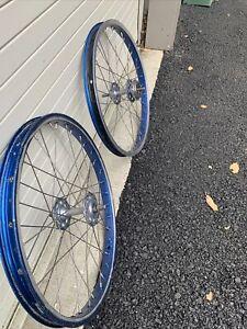20 x 1.75 araya 7x bmx rims sunshine hub old school wheels Suntour 16t Freewheel