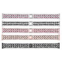 Armband für Fitbit Charge3 FüNf Perlen Drei Reihen mit StrassbäNdern für Fi O8F9