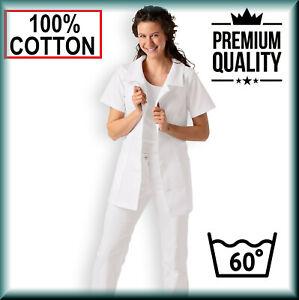 Coat scrub Lab Tunic Dentist Heathcare Hospital Medical Nurse Carer NHS Doctor