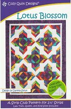 "Lotus Blossom: A Strip Club Pattern for 2 1/2"" Strips by Cozy Quilt Designs # CQ"