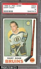 1969 O-Pee-Chee OPC Hockey #202 Gary Doak Boston Bruins PSA 9 MINT