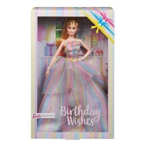 Birthday Wishes - Barbie Signature. Rainbow Dress. Brand New Collector Doll NRFB