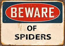 """""""attenzione dei ragni"""" METAL SIGN, Smalto, Vintage, N. 368"""