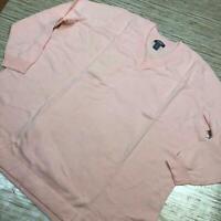 A-907 Martha Stewart Long Sleeve V-Neck tunic Sweater Side Slits PEACH WHIP 1x