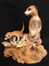 Country Artists Natural World Playtime Meerkats Meerkat Mom & 2 Baby Cubs Family