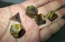 Jet Yellow Tiger Eye Sacred Geometry Sets 5 Stone Free Booklet Crystal Therapy