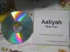 Aaliyah – Miss You Label: Independiente Records UK Promo CD Single