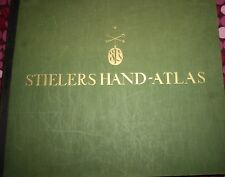 World Atlas, large Stielers Handatlas, 254 copper engraved maps, 1928/1929