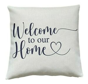 Welcome home cushion cover 40 cm ~ French country/botanical/gift