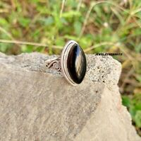 Black Onyx Solid 925 Sterling Silver Spinner Ring Handmade  Ring Size bbnb