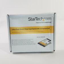 StarTech.com 2 Dual Port USB 3.0 54 mm ExpressCard Laptop Adapter ECUSB3S254F