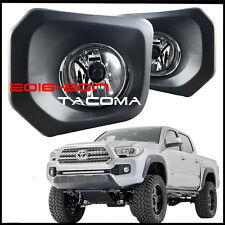 2016 2017 Toyota Tacoma Fog Lights Clear Bumper Lamp With Switch and Wiring Kit