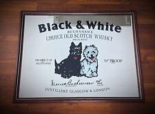 Rare grand 64x49 miroir publicitaire vintage 70´s Black & White