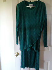 Maxima 2 Piece Green Dress Skirt & Long Sleeve Top Outfit ~ Size Large L