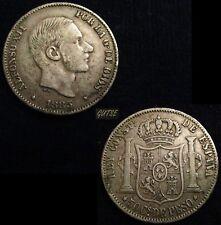 *GUTSE*264-ALFONSO XII, 50 CENTAVOS DE PESO 1883 FILIPINAS, MBC+