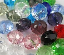 400pcs 8mm DIY loose strand Mixed Faceted Rondelle Glass Crystal Beads spacer