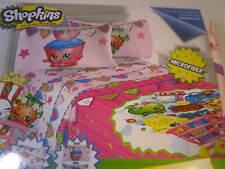 Girls Shopkins Pink 4 Piece Full Size Microfiber Sheet Set NWT