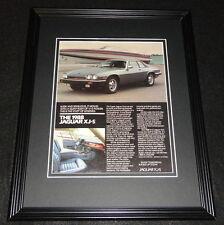 1988 Jaguar XJ-S Framed 11x14 ORIGINAL Advertisement