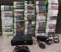 Microsoft Xbox 360 S Slim 4GB Black Console bundle with games   Fast Shipping !