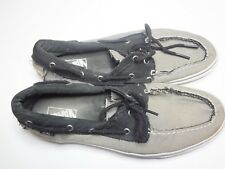 Vans Off The Wall Zapato Del Barco Boat Shoes Color Grey Black Mens Size 13