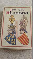 Vintage Standard Deck Playing Cards Jeu des Blasons Full Unused Families France