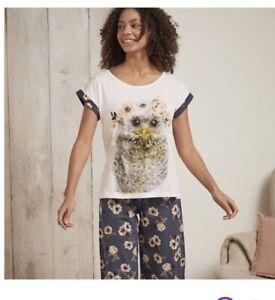 AVON Flower Owl Pjs Pajamas Size Large 16-18. New Gift