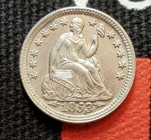 1853 Arrows CH BU Liberty Seated Half Dime MS+ Gorgeous Coin Very Rare NICE