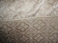 New listing Elegant Fabric Shower Curtain w Attched Valance Shipping Included