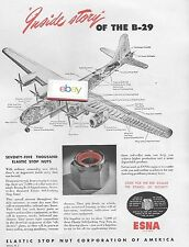 BOEING AIRCRAFT 1946 B-29 SUPERFORTRESS INSIDE STORY CUTAWAY DRAWING 75K NUTS AD
