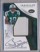 ARDARIUS STEWART - 2017 Immaculate Rookie 2 Color Patch AUTO /99 - NY Jets RC
