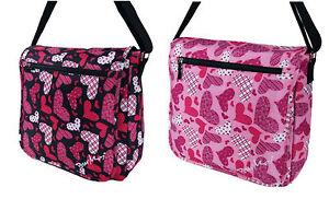 Pour Moi Large Love Heart Design Flap Over Dispatch Messenger Bag/ Baby Bag