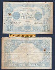 5 Francs BLEU - 10/5/1916 TB N.11786 669 - Type 1905