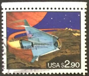 1993 $2.90 Space Shuttle Priority Mail single, Scott #2543, Used, VF, Light CNX