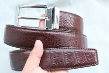 Brown Genuine Alligator ,Crocodile Belly Belt Skin Leather Men's -W 1.5""