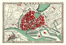 George Bradshaw'S CONTINENTAL Piano della città di Amburgo 1896 - 1000 Pezzo Puzzle