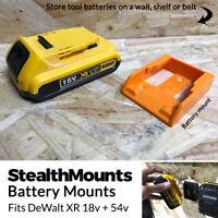 5x ORANGE Battery Mounts for DeWalt 18v XR 54v FlexVolt Li Ion Batteries Holder