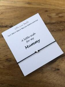 Wish For My Mummy, Wish String Bracelet, Mothers Day Gift, Mother & Daughter