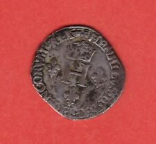 (Ref: MD.41) MONNAIE MEDIEVALE HENRI II DEMI GROS DE NESLE (1550-1551)
