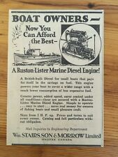1934 CANADA  AD STAIRS MORROW HALIFAX RUSTON LISTER ENGINE  FREE SHIPPING